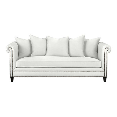 The Tailor Sofa by Crate &amp; Barrel (via Crateandbarrel.com) has hemp upholstery fabric.