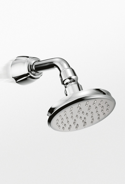 Toto Guinevere High Efficiency Shower Head via totousa.com.