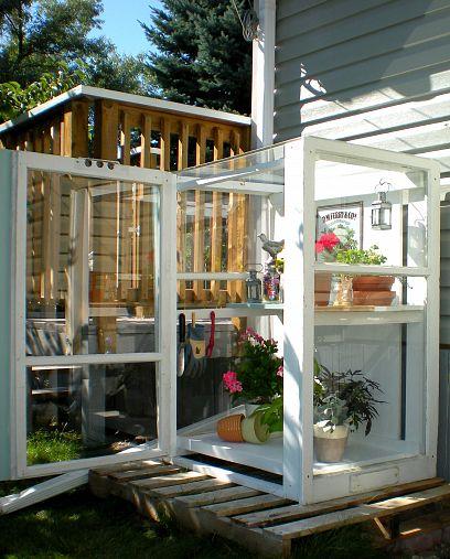 Small greenhouse by DesignDreamsbyAnne.blogspot.ca via Hometalk.com.