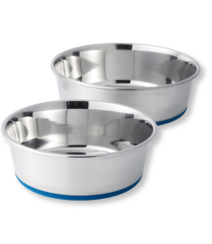 The Durapet Stainless Steel Dog Bowl via LL Bean