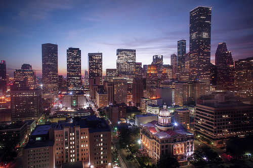 Photo of the Houston skyline by Katie Houghland/Flickr Creative Commons.