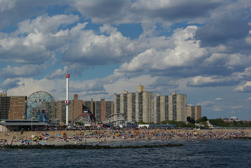 Coney Island on a hot summer day. Photo by Seamann/Morguefile.com.