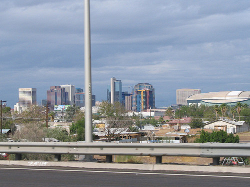 Photo of the Phoenix, Arizona skylone by ConspiracyofHappiness/Flickr Creative Commons.