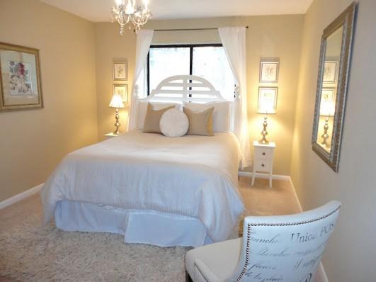 Neutral guest bedroom and photo by LiveLovDIY via Hometalk.com.
