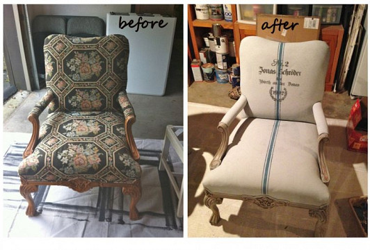 Chair refinishing and photo by Bella Tucker Decorative Finishes via Hometalk.com.