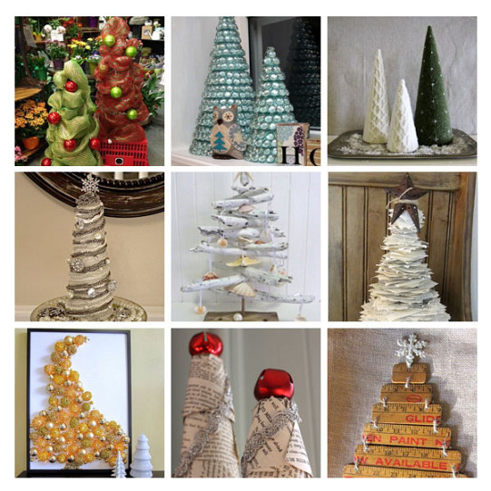 DIY Christmas Trees from Recycled Materials - Articles :: Networx
