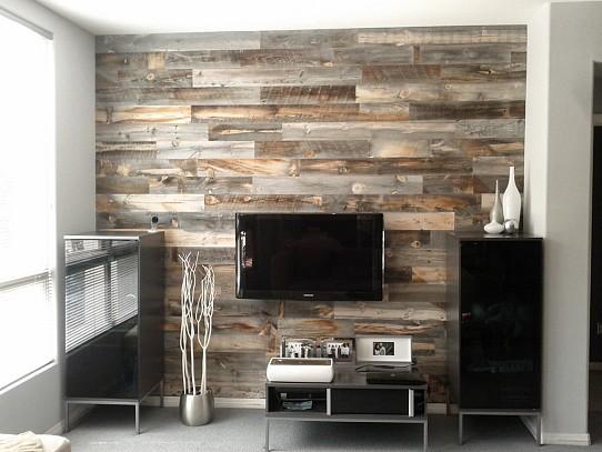 Reclaimed weathered wood by Stikwood via Stickwood.com.