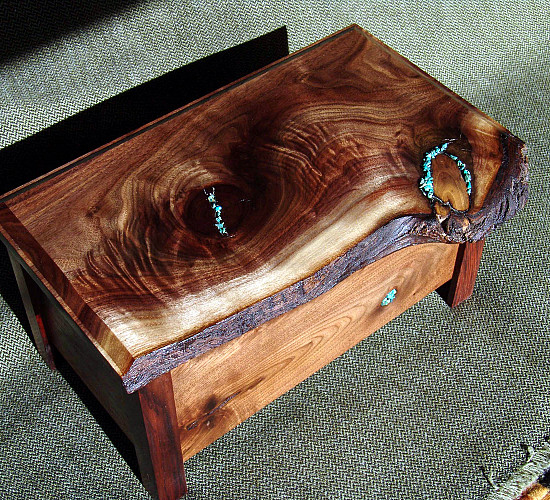 A native edge wood jewelry box made by the author.