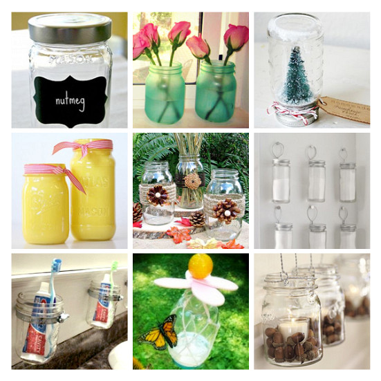 Photos of Mason jars courtesy of Hometalk.com.