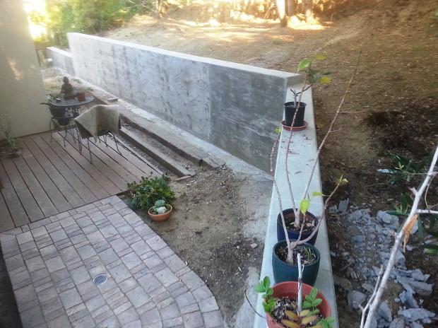 I Built A Concrete Retaining Wall As A Defense Against El